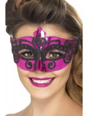 Pink & Black Eye Mask